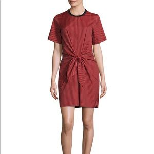 Phillip Lim Short-Sleeve Striped Knotted Dress
